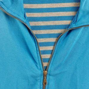 Splendid Jackets & Coats - Splendid Blue Zipper Jacket Stretch Large L